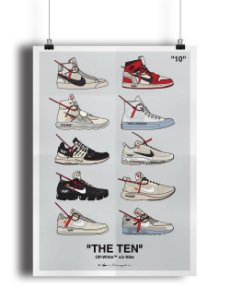 POSTER - Nike x OFF-WHITE The Ten (SEM MOLDURA)