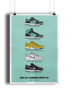 POSTER - Nike SB x Diamond Supply CO. (SEM MOLDURA)