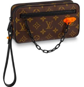 "LOUIS VUITTON - Pochete Volga Monogram ""Black Hardware/Brown"""