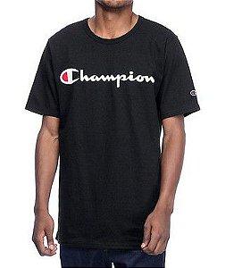 """CHAMPION - Camiseta Script Logo Heritage """"Black"""""""