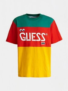 "Guess x J.Balvin - Camiseta Logo Print ""Red/Orange/Green"""