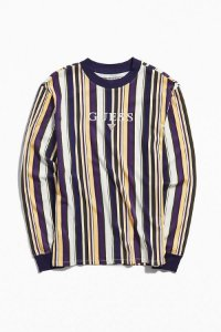 "ENCOMENDA - GUESS - Camiseta Ashton Stripe ""Yellow/Purple/White"""