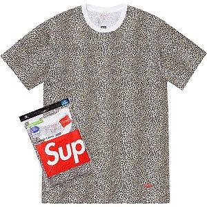 SUPREME - Kit com 2 Camisetas Hanes Leopard