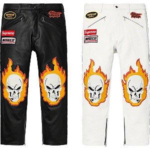 ENCOMENDA - Supreme x Vanson Leathers - Calça Ghost Rider