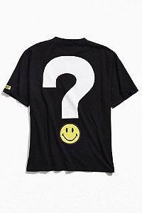 "ENCOMENDA - Guess x Chinatown Market - Camiseta Smiley Big Question ""Black"""