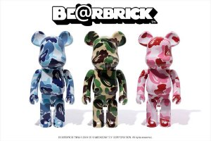 ENCOMENDA - Bape x Be@rbrick - 1000% ABC Camo (Set com 3)