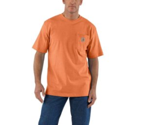 "CARHARTT- Camiseta Pocket ""Orange"""