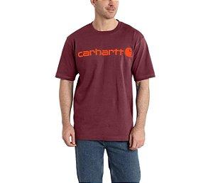 "CARHARTT- Camiseta Script Logo ""Tomato"""