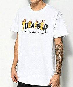 """THRASHER - Camiseta Mag Flame """"White"""""""