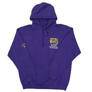 "Travis Scott -  Moletom Astroworld Tour Logo ""Purple"""