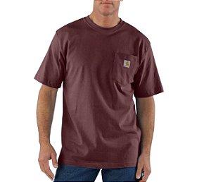 "CARHARTT- Camiseta Pocket ""Burgudy"""
