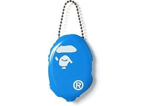 """BAPE - Chaveiro Ape Head Coin Pouch """"Blue"""""""