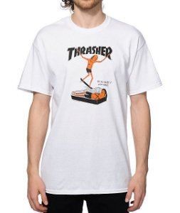 "THRASHER - Camiseta Neck Face ""White"""