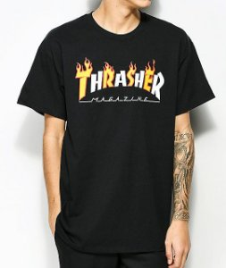 "THRASHER - Camiseta Mag Flame ""Black"""