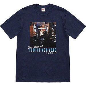 "SUPREME - Camiseta Christopher Walken King Of New York ""Navy"""