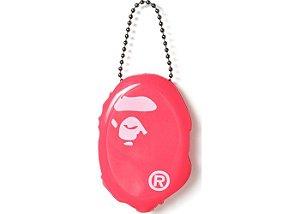 """BAPE - Chaveiro Ape Head Coin Pouch """"Pink"""""""