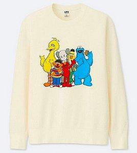 "UNIQLO x KAWS x Sesame Street - Moletom Friends ""Cream"""