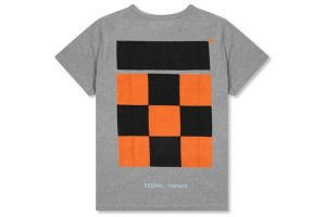 "OFF-WHITE - Camiseta Checker ""Grey"""