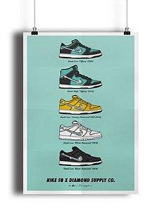 POSTER - Nike SB x Diamond Supply CO. (COM MOLDURA)