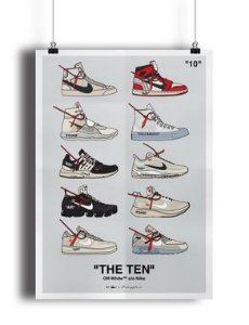 POSTER - Nike x OFF-WHITE The Ten (COM MOLDURA)