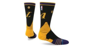 "STANCE - Meias Lakers logo ""Black/Yellow/Purple/"