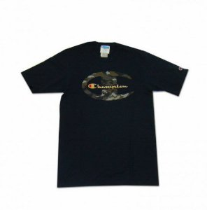 "CHAMPION - Camiseta Camo C Gold Script ""Black"""