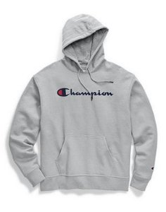 "CHAMPION - Moletom Graphic Script ""Grey"""