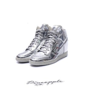 "Nike Dunk Sky Hi SP Liquid Metal ""Silver"""