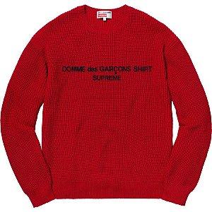 "Supreme x Comme des Garçons - Suéter Logo ""Red"""