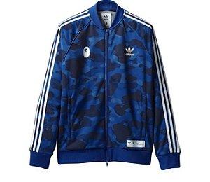 "adidas x Bape - Jaqueta Adicolor Track Top ""Blue"""