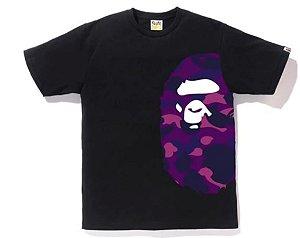"""BAPE - Camiseta Color Camo Side Big Ape Head """"Purple"""""""