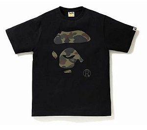 "BAPE - Camiseta Reflector 1st Camo Ape Face ""Black"""
