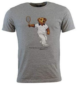 "Polo Ralph Lauren - Camiseta Polo Bear Tennis ""Grey"""
