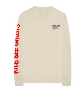 Kanye West - Camiseta Manga Longa Kids See Ghosts
