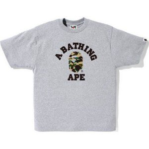 "BAPE - Camiseta 1ST Camo College ""Grey"""