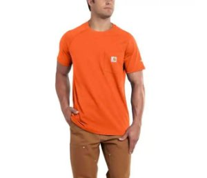"CARHARTT- Camiseta Force Pocket ""Orange"""