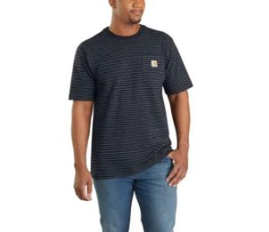 "CARHARTT- Camiseta Pocket ""Black Stripe"""