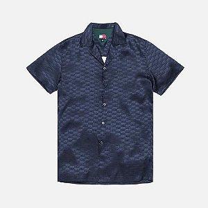 "KITH X TOMMY HILFIGER - Camisa Satin ""Navy"""