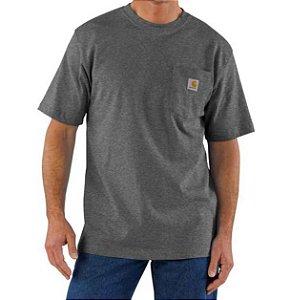 "CARHARTT- Camiseta Pocket ""Carbon Heather"""