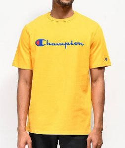 "CHAMPION - Camiseta Script Logo Embroidered ""Gold"""