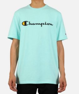 "CHAMPION - Camiseta Script Logo Embroidered ""Waterfall Green"""