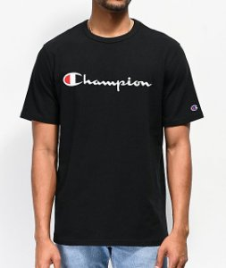 "CHAMPION - Camiseta Script Logo Embroidered ""Black"""