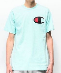 "CHAMPION - Camiseta Heritage Big C Patch ""Waterfall Green"""