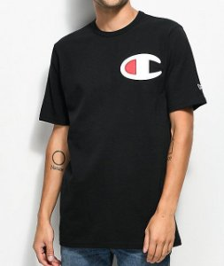 "CHAMPION - Camiseta Heritage Big C Patch ""Black"""