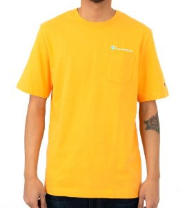 "CHAMPION - Camiseta Heritage Script Pocket ""Capri Orange"""