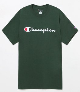 "CHAMPION - Camiseta Script Logo ""Bottle Green"""