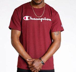 "CHAMPION - Camiseta Script Logo ""Burgundy"""