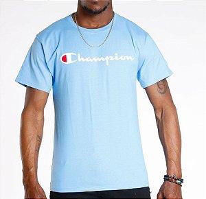 "CHAMPION - Camiseta Script Logo ""Light Blue"""