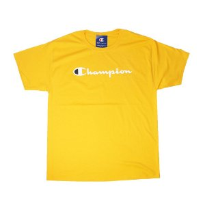 "CHAMPION - Camiseta Script Logo ""Team Gold"""