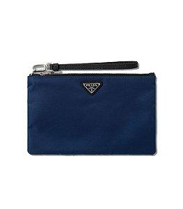 """ENCOMENDA - PRADA - Bolsa Logo Small """"Blue"""""""